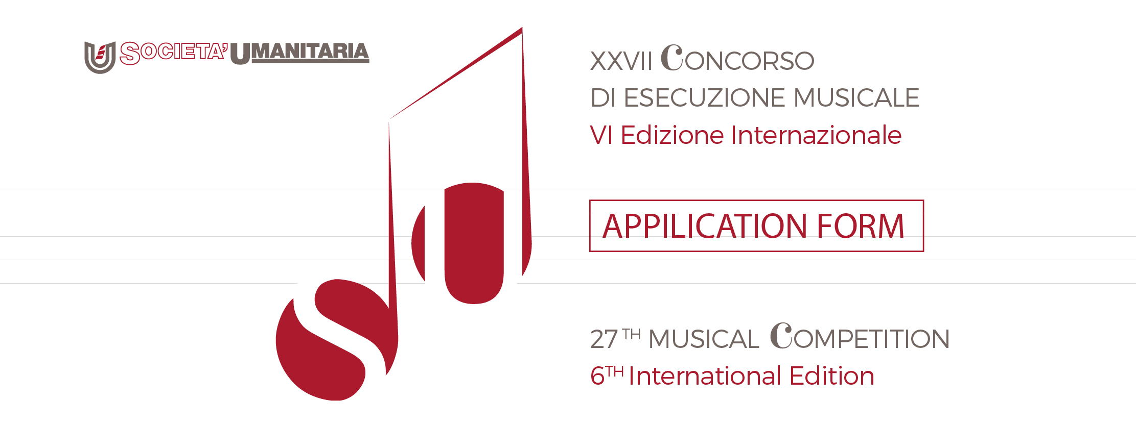 Logo Concorso APPLICATION FORM2x